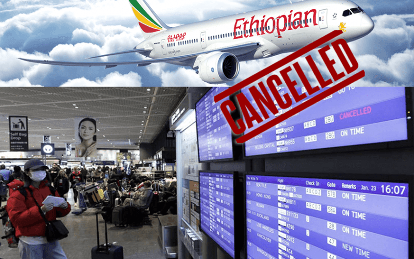 Ethiopian Airlines Canceled Some Flights to and from China